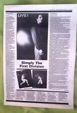 JOY DIVISION / SPECIALS concert reviews 1980 UK ARTICLE / clipping