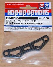 Tamiya 54089 TB-03 Carbon Bumper Support (TB Evo 5/TA05V.2/TRF416), NIP