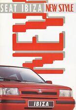 Seat Ibiza new style folleto 12 91 brochure 1991 auto turismos auto folleto España