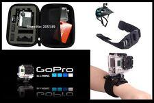GoPro shockproof Case / Helmet strap / Wrist strap / Car mount / Uk seller