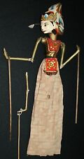 Vtg Indonesian Balinese Doll Wooden Puppet Marionette Hand Carved Cultural Toy