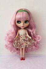 "12"" Takara Neo Blythe Dolls from Factory Nude Dolls Light pink Curls Hair"