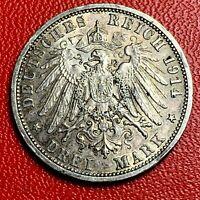 #5362 - Allemagne Drei Mark 1914 A Argent SUP - FACTURE