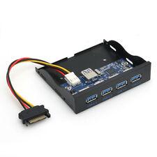 3.5 inch Floppy Bay Internal 20Pin 4 Port USB3.0 Front Panel Bracket