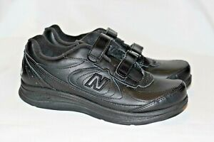 New Balance 577 Black Leather Walking Shoes Comfort Women's 7