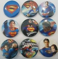Lot of 9 Superman Badges - 3cms diameter - Perfect for Party loot bags favours