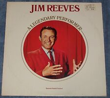 Jim Reeves A Legendary Performer RCA LP Record w/ Booklet Mexican Joe Four Walls