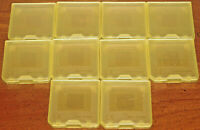 Lot of 10 Nintendo DSi DS GAME Cartridge & SD Card YELLOW Holder Cases NES