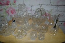 More details for job lot of crystal glasses baskets bells thistles x 12 items