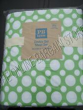 Pottery Barn Teen PBT Double Dot Bed Bedroom Dorm Sheets Set Queen Green