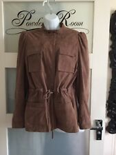 Bnwt Soft Suede Safari Style Jacket By French Connection Size 14 RRP £325.00