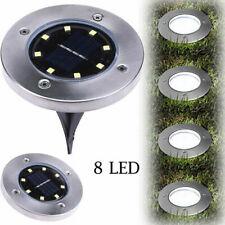 LED Solar Disk Lights Buried Light Outdoor Garden Under Ground Waterproof White