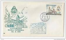 Philippines FDC 1958 Manila Cathedral First Day Cover Sc 646