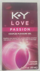 K-Y KY Love Passion Couples Pleasure Gel Intimate Lubricant 1.69 fl 0z