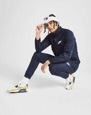 Nike Blue Tracksuit Jacket & Pants Set Soccer Football Gym Training Swoosh Small