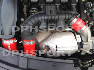 Citroën DS3 THP 155 TURBO INTERCOOLER SILICONE HOSE PIPE KIT RED
