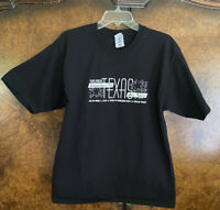 1990 Dallas,TX Independence Day Texas Music Festival Black T-Shirt Size Large