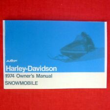 MANUAL - Vintage Owner's Gas Snowmobile - HARLEY-DAVIDSON