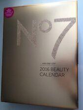 No 7 Advent Bright Lights Big City Beauty Make up Calendar 2016 Gift Set BNIB