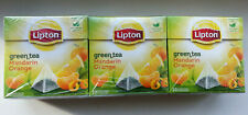 Lipton Green Tea Mandarin Orange 20 bags × 3 boxes