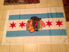 Chicago BLACKHAWKS FLAG City of Chicago: Authentic 3' x 5' Official NEW