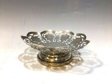 "Cute Vintage Small Silver Decorative Dish - 4 1/4""D"