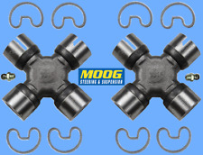 2 Premium Driveshaft Universal Joint Front/Center/Rear Moog Greasable Expedited