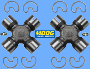 2 Premium Driveshaft Universal Joint Front Center Rear Moog Greasable