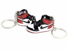 3D MIni Sneaker Keychain - Air Jordan 1 Original Red White & Black Pair (2)