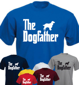 The Dogfather English Springer Spaniel Dog Birthday Gift Present New T-shirt