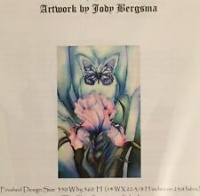 IRIS Counted Cross Stitch Embroidery CHART - Jody BERGSMA NIP BEAUTIFUL! RARE