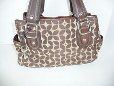 Fossil Satchel Purse Handbag Brown Tan ZB 2730