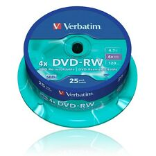 VERBATIM DVD-RW ROHLINGE 4.7 GB 25er SPINDEL 120min / SPEICHERMEDIUM Nr. 43639