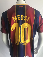 Messi #10 Barcelona 2020-2021 Home Football Soccer Men's Jersey
