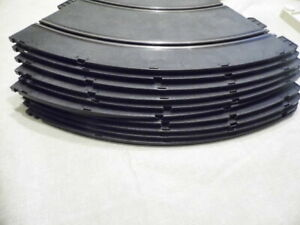 LOT strombecker 1/32..  10 x curve / corner / radius track slot car damaged rail