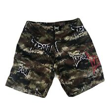 Tapout Camo Shorts Mens Mma Athletic Board Wrestling Gym Fight Sz 32. Pre Owned.