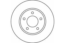 MDC1555 MINTEX BRAKE DISCS INTERNALLY VENTED ,OE QUALITY BRAKE DISCS 281 MM