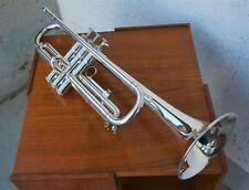 Trompete YAMAHA T100S - versilbert - mit Koffer, 2 Mundstücken, etc.