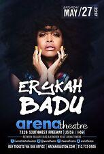 Erykah Badu 2017 Houston Concert Tour Poster - Neo Soul Music
