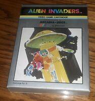 Emerson Arcadia 2001 ALIEN INVADERS video Game Cartridge #8.w box manual VTG