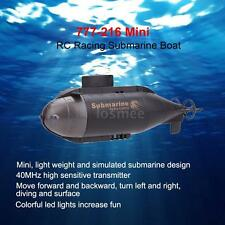 Racing Submarine Boat R/C Toys with 40MHz Transmitter Black US