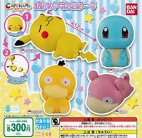 BANDAI Kapukyara Pokemon 5 Gashapon 4 set mini figure capsule toys
