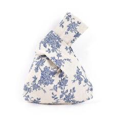 Grid Wave Flower  Knot Wrist Bag Mobile Phone Key Small Bag Handmade Square Pip