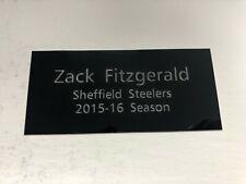Zack Fitzgerald EIHL Sheffield Steelers - Engraved Plaque for Signed Memorabilia