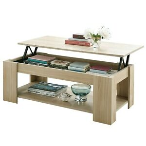 Lift Top Coffee Table With Storage Shelf Wooden Lift Up Desk Drawer Living Room