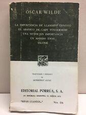 La Importancia De Llamarse Ernesto El Abanico De Lady Windermere Wilde 1976