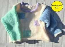 Baby's round neck sweater with colour block detail