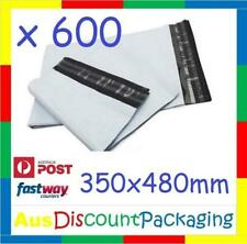 (600x Piece) 350 x 480mm Premium Poly Mailer Courier Satchel Shipping Bag
