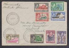 More details for british solomon islands kgvi cover to detroit, usa - 1944 lunga cds's