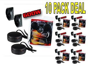 10 PACK 600w High Frequency Car Truck Boat Stereo Tweeters Built-in Crossover XT